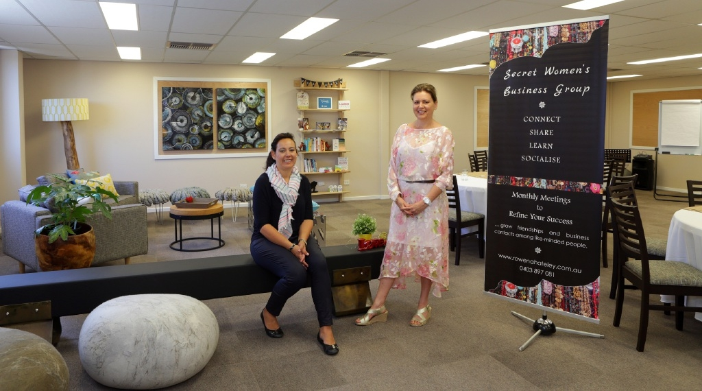 Liza Joubert and Rowena Hateley in the new facility. Picture: Martin Kennealey        d446997