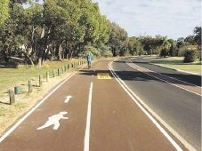 The new shared path in Woodvale.