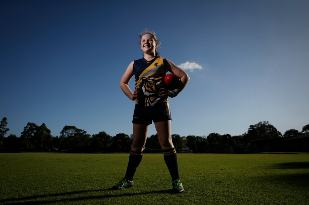 Pippa's footy dream becoming reality with girl's team