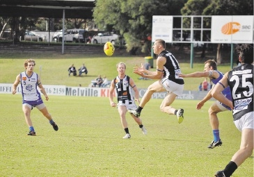 Tallen Ames marking in defence for Swan Districts.