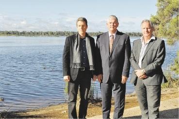 Fremantle's deputy Mayor Josh Wilson, Cockburn Mayor Logan Howlett and East Fremantle Mayor Jim O'Neill