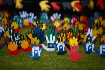 Hands of friendship at last year's celebrations.
