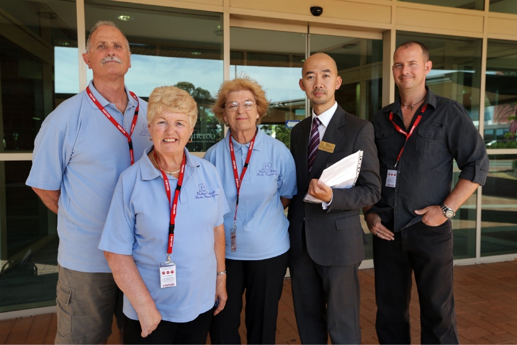 City of Wanneroo councillor Hugh Nguyen with Northern Suburbs Stroke Support Group members Dean Soraggi, Iris Deans, Sally Allen  and Peter Coghlan. Picture: Martin Kennealey        www.communitypix.com.au   d446081