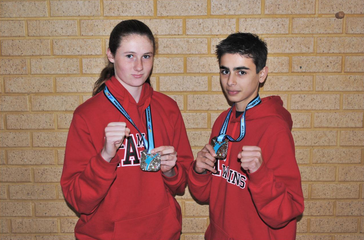 Olivia Roberts (14) and Nicholas Bontempo (15). Picture: Charles Rawlins