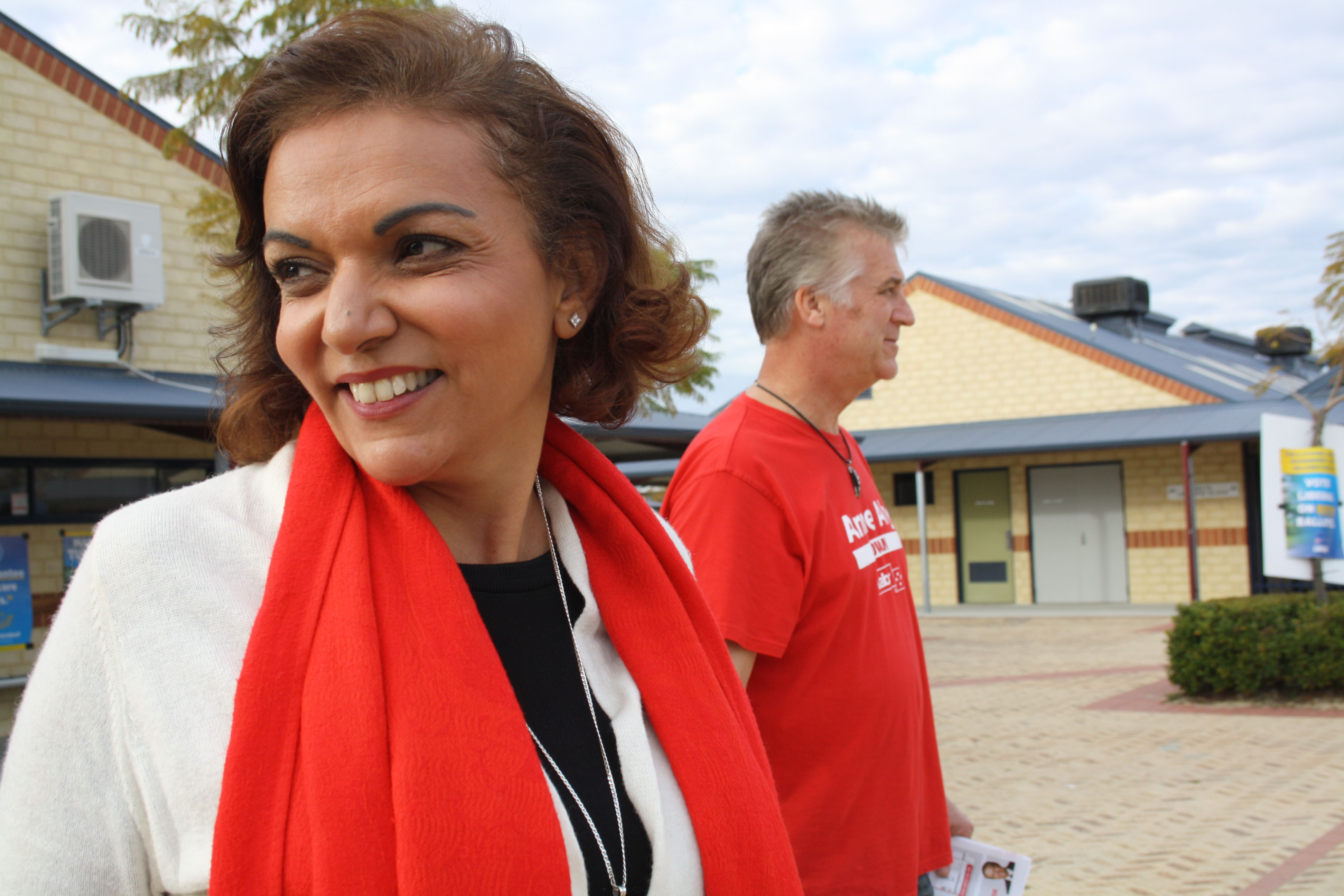 Cowan's Labor candidate Dr Anne Aly on Election Day.