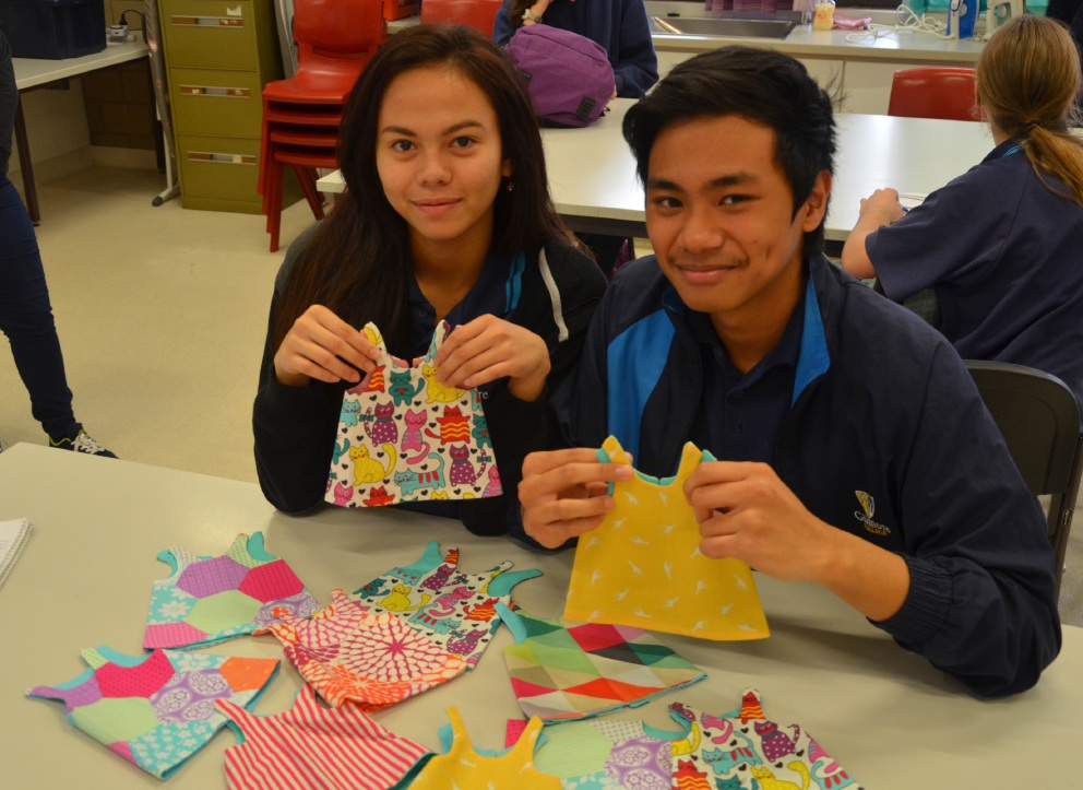 Gilmore College students are making care packages for the needy