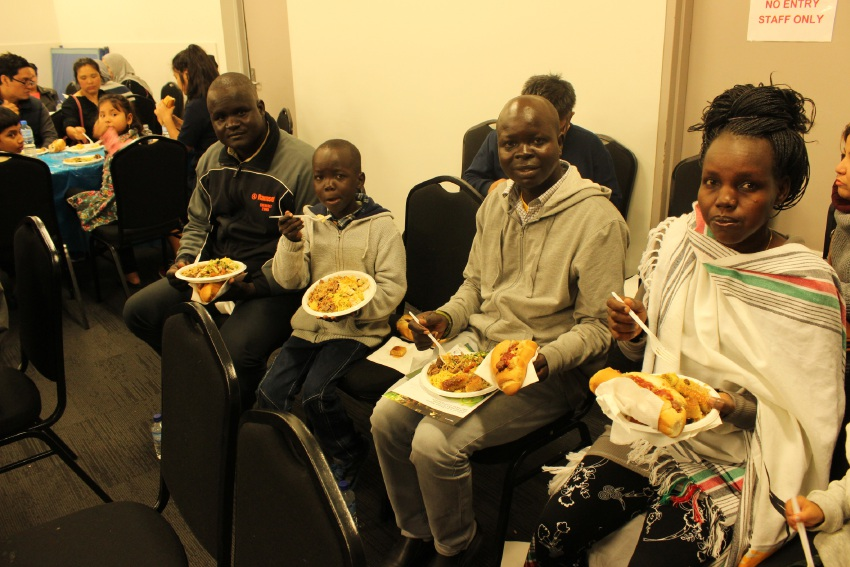 Attendees at the Metropolitan Migrant Resource Centre's Refugee Week celebration.