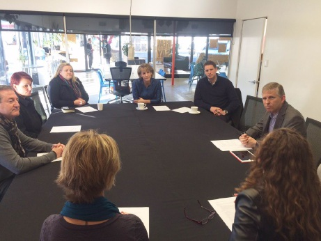 Minister for Women Michaelia Cash and Canning MHR Andrew Hastie meet representatives of local organisations about the regional alliance.