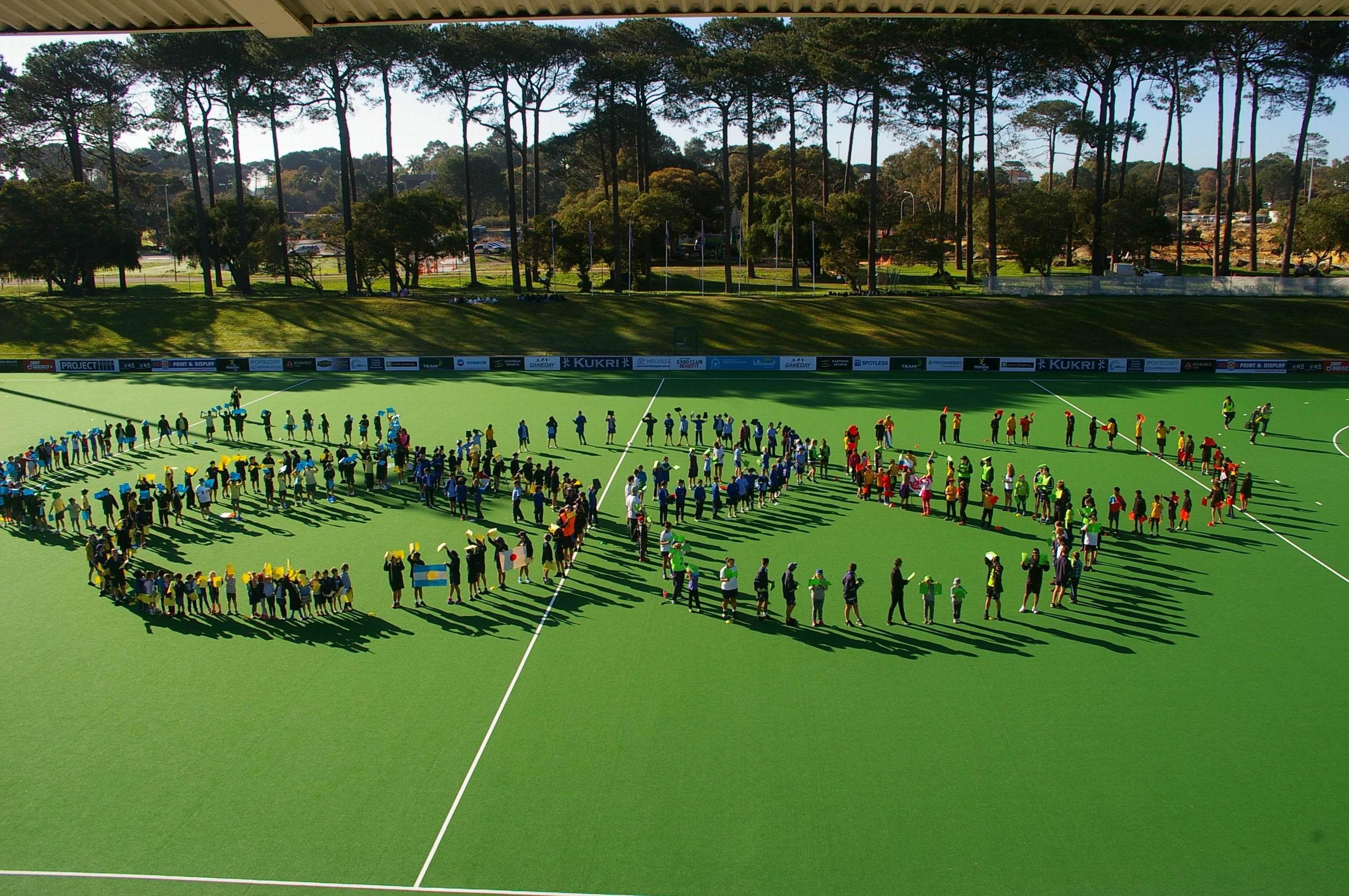 Perth school kids recreate Olympic opening ceremony