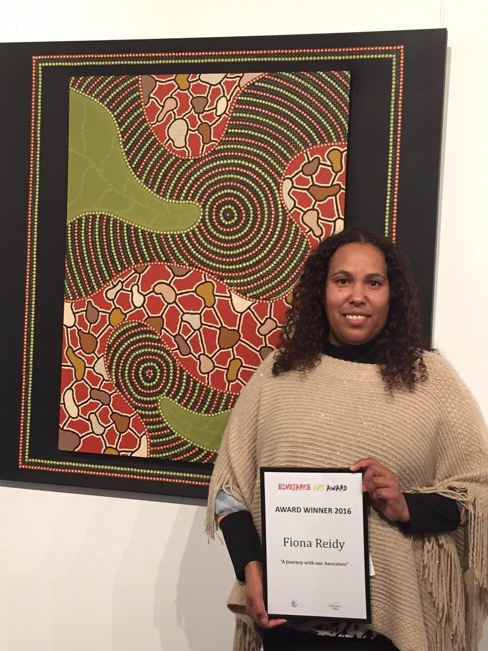 Fiona Reidy won the $10,000 Binjareb Art Award
