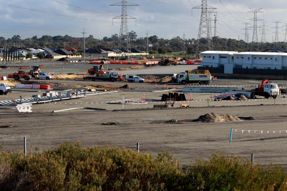 Aubin Grove station taking shape