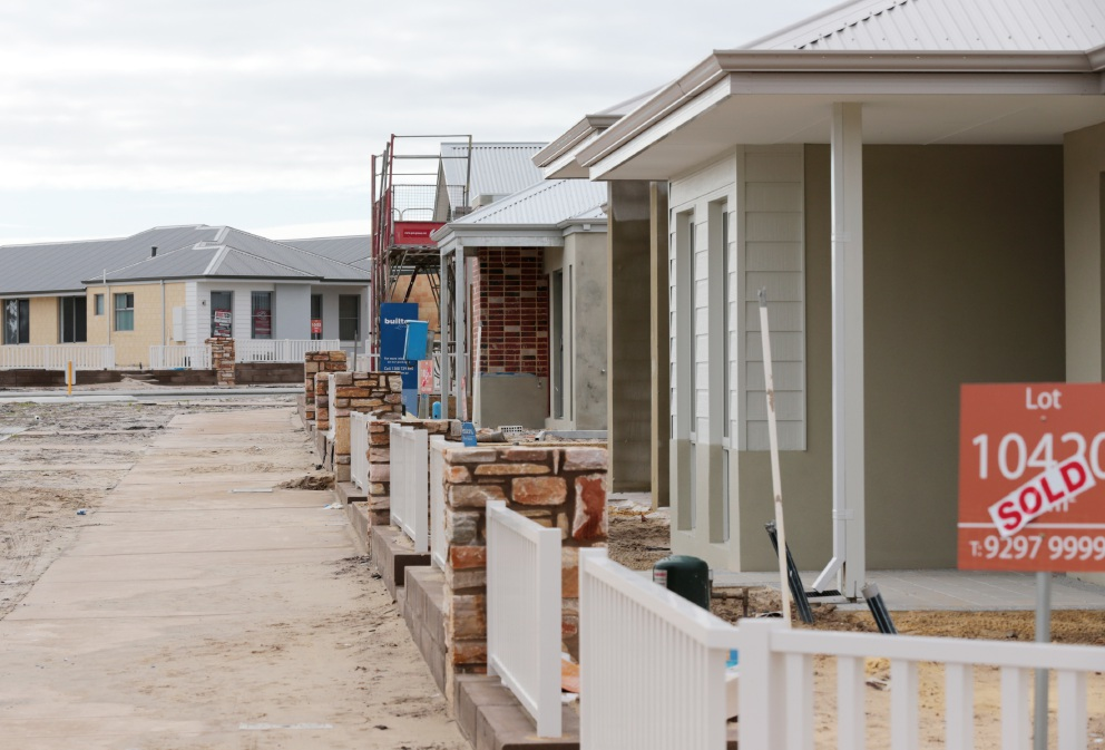 New houses being built in Annie's Landing, Ellenbrook.
