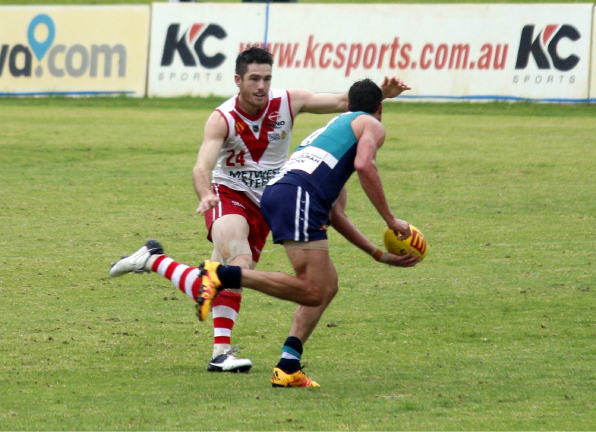 South Fremantle's Ben Saunders co-leads the WAFL goalkicking with 31. Picture: Declan Byrne