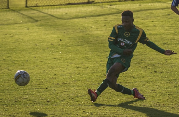 Morcedai Appiah looks to thread a pass through for UWA.