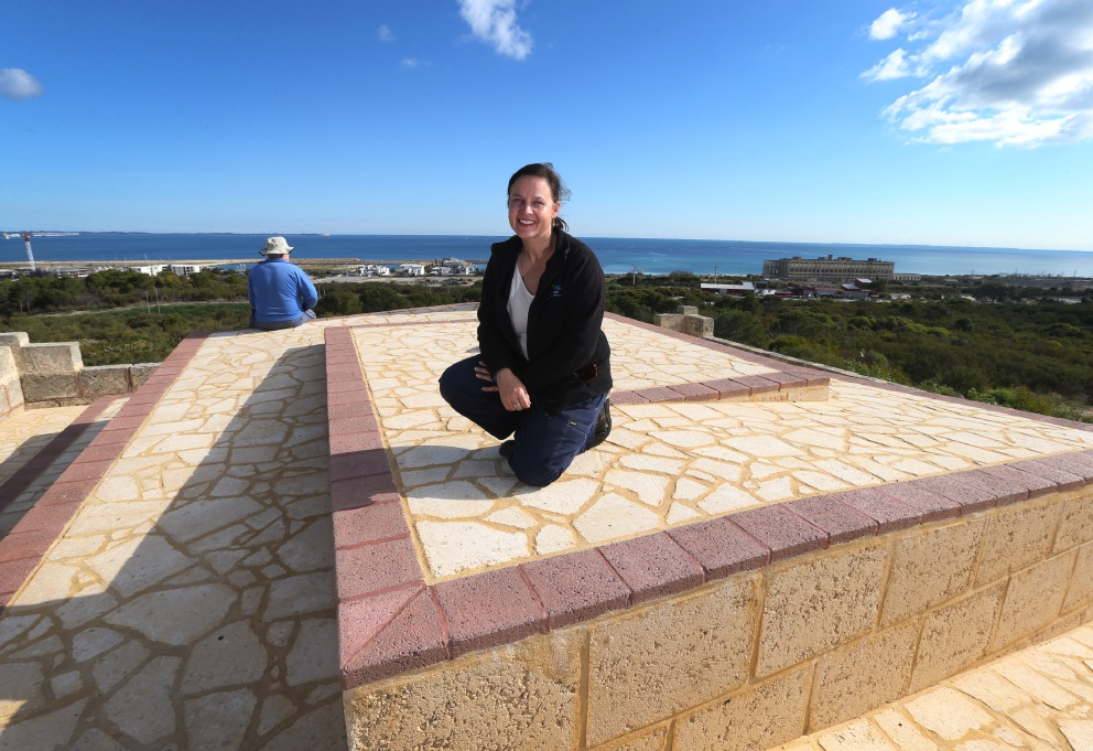 City of Cockburn Environmental Officer Linda Metz at the newly upgraded lookout. Picture: Matt Jelonek