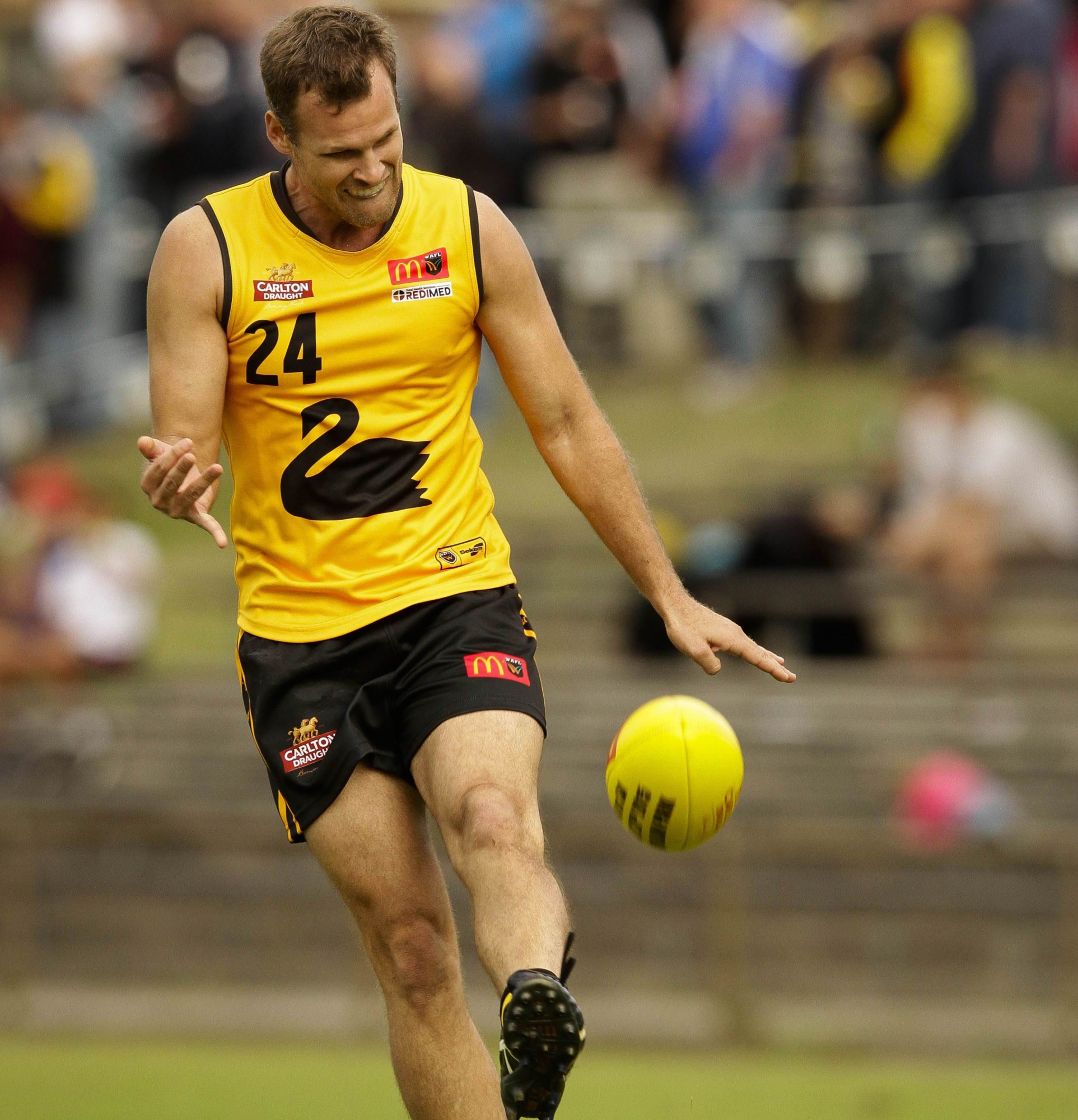 Swan Districts star Justin Simpson is in line to be picked for a place in the WA state game against Tasmania.