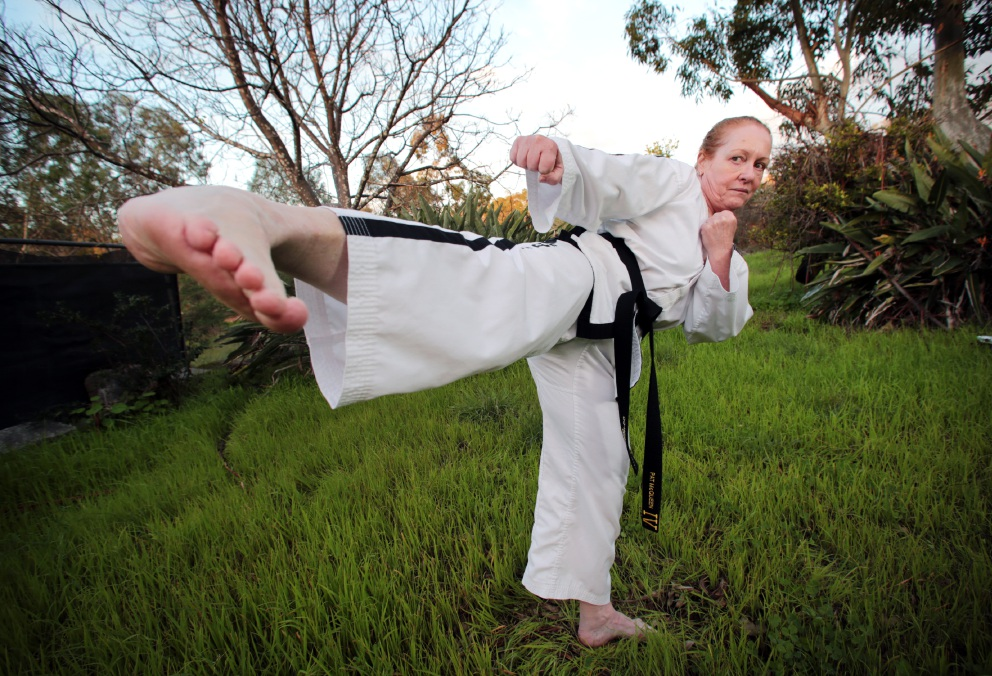 Pat McQueen of Parkerville gets her kicks from tae kwon do and will be competing for her fifth and final world championships in Italy this September.