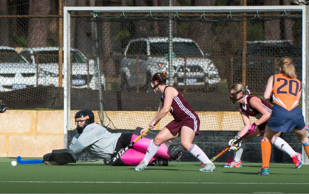 Melville City goalkeeper Erin Judd kept her side in the game with a saved penalty against Vic Park. PICTURE: Teresa Forbes / TJM Photographics.