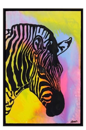 Vivacious Zebra by Justin Barnes.
