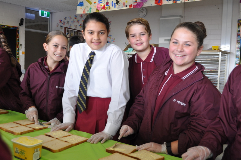 St Peter's Primary students paying it forward with School Kindness Lunches