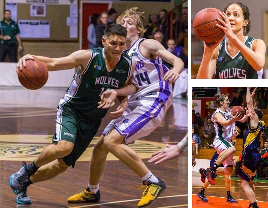 Wolves milestone players Seb Salinas (main), Sherelle Knight and Greg Hire. Pictures: Serene Maisey