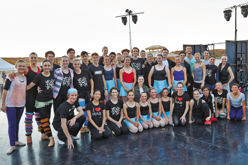WA Ballet dancers with local performers. Picture: Sergey Pevnev