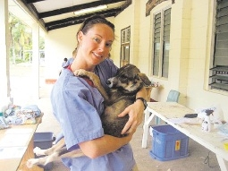 Vet nurse Rebecca Tapp needs donations of animal