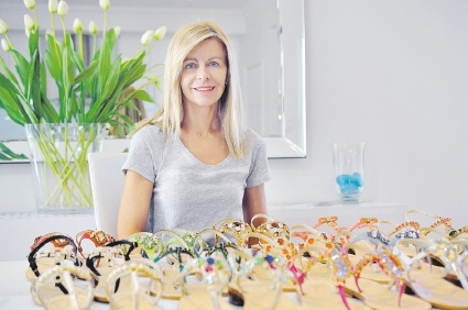 Cheryl Botha's handcrafted shoes are made from Italian leather.