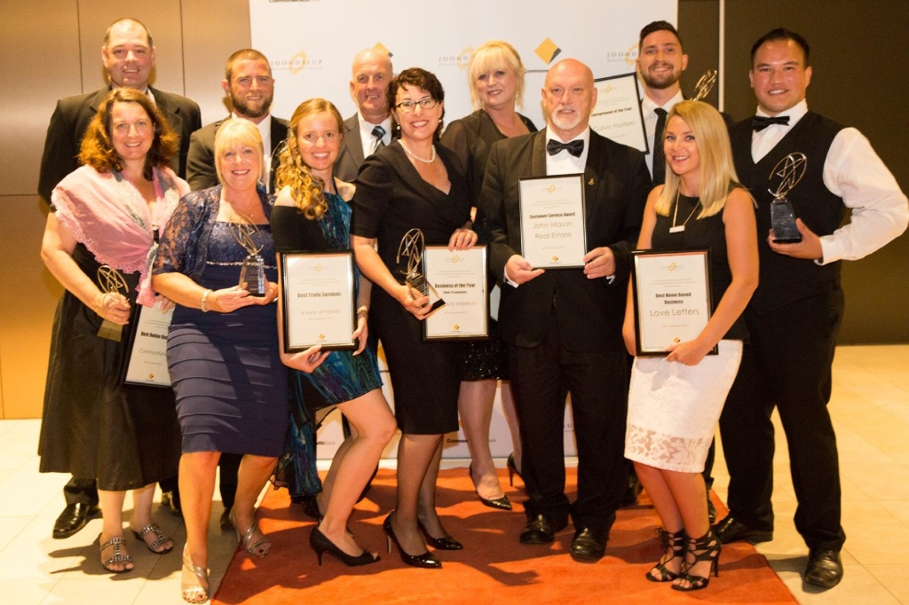 Winners are grinners…. winners of the annual North West Metro Small Business Awards at Joondalup Resort.