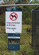 City of Joondalup dog prohibition signs stolen from Craigie Open Space
