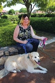 Dog owner Kara Ringland with Texas Jack. Ms Ringland supports the new, stricter laws, having witnessed several attacks by dogs off leashes. www.communitypix.com.au d427787