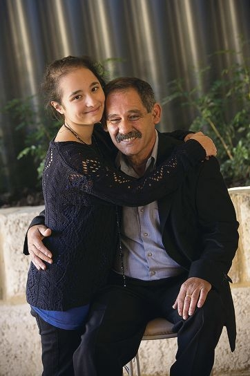 Michelle (17) and her father Manuel Sammut. Picture: Louise White www.communitypix.com.au d403096