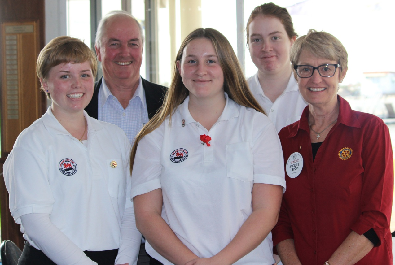 Georgia Field, Rotary Club of Melville president Peter Smith, Claire Di Giorgio, Alana Hargreaves and Rotarian Jacquie Heron.