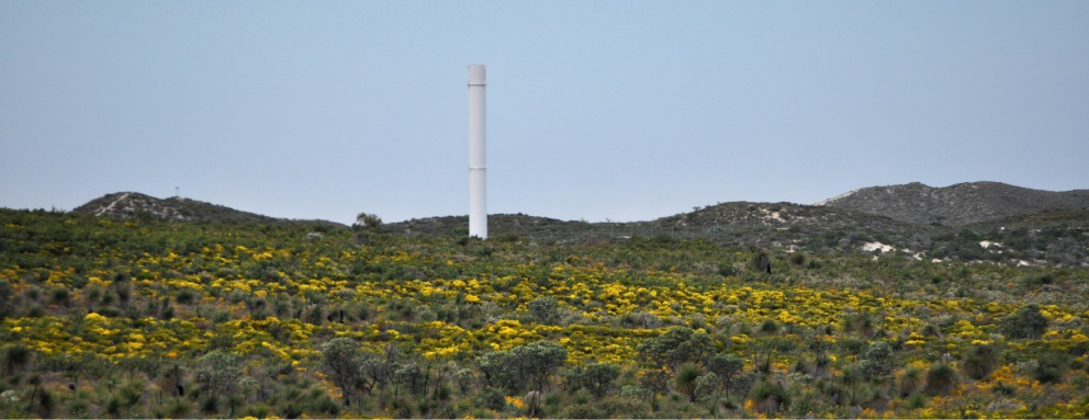 s tower in the Alkimos Wastewater Treatment Plant buffer zone.