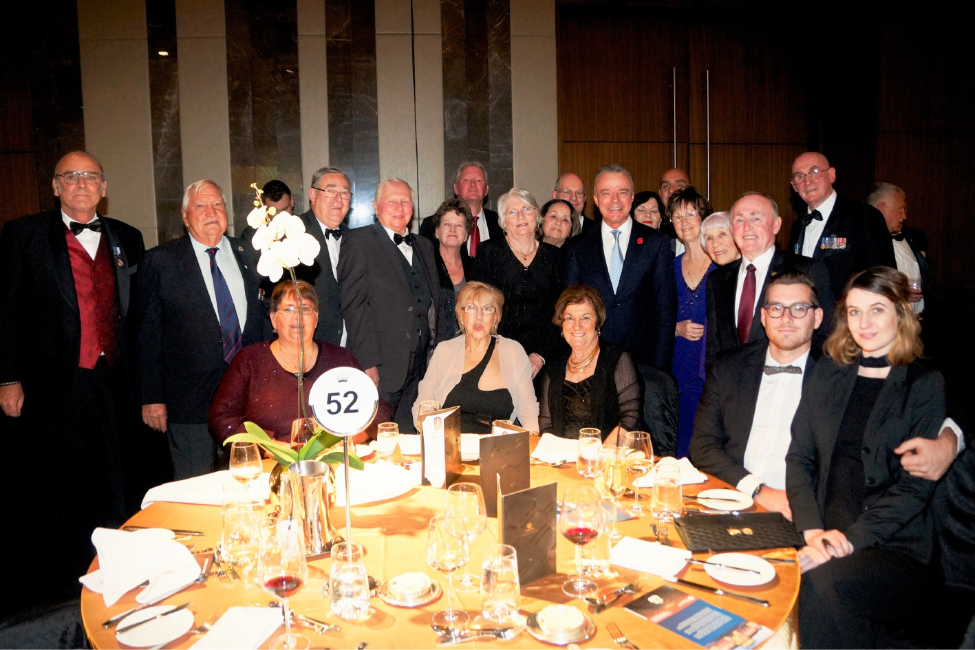 Belmont RSL members and Belmont City councillors at the 100th anniversary gala dinner  with Australian War Memorial director Brendan Nelson, who was the guest speaker.