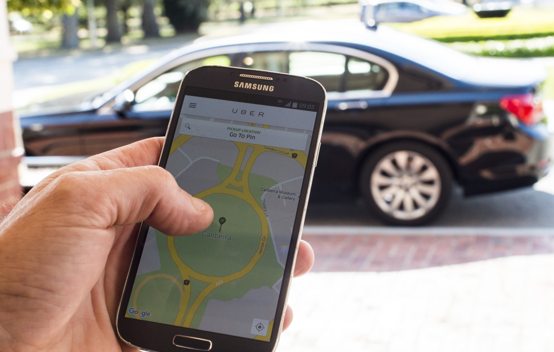 The UberX app.