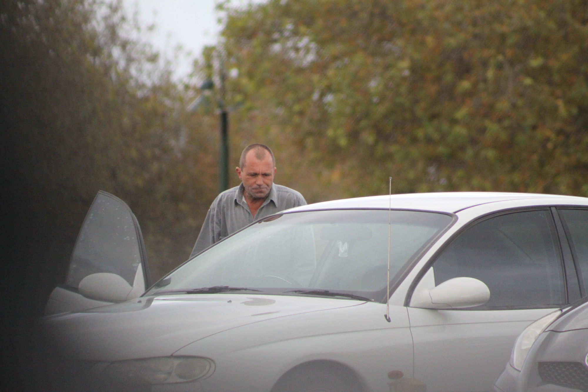 David Cramer leaving court after receiving a suspended prison sentence for ramming a woman off the road in October, 2014.