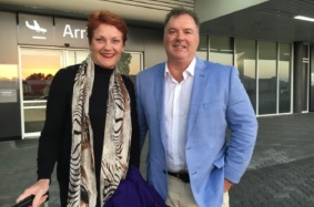 Rod Culleton and Pauline Hanson campaigning in WA. Picture: supplied