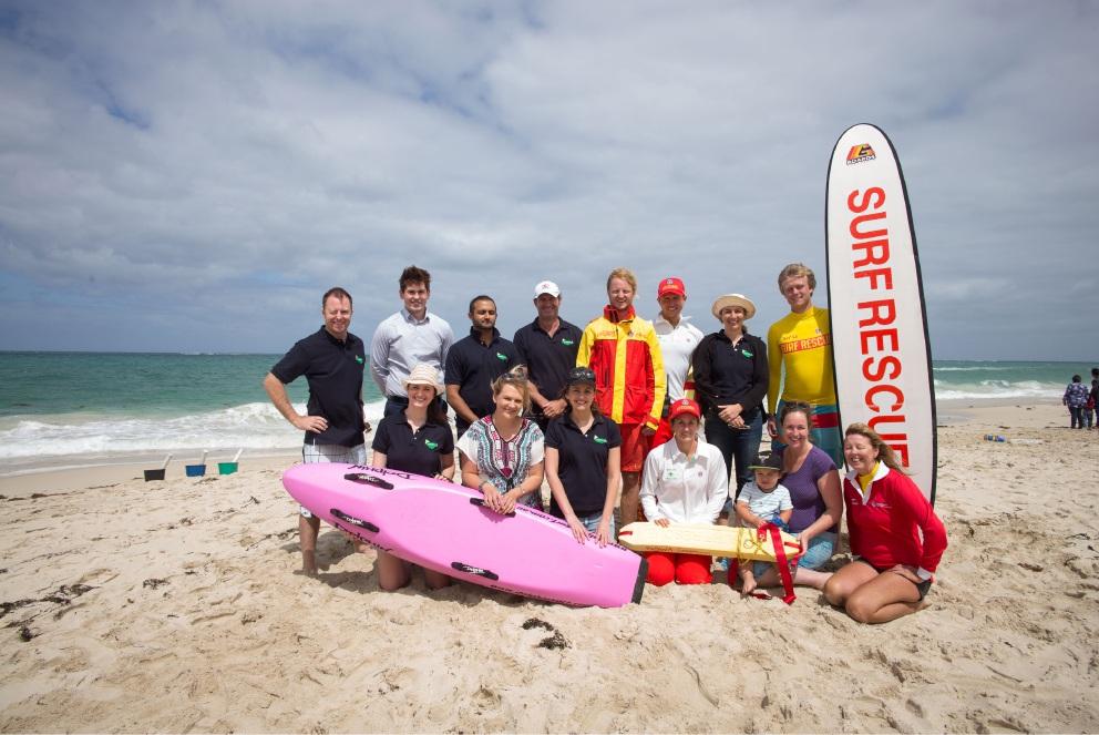Alkimos Beach development team at the beach access opening in 2015.