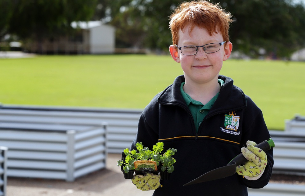 Peter Moyes students dig new kitchen garden