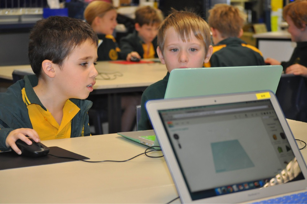 Melville Primary School Year 2 students Jonah Pangiarella and Danny Edwards.