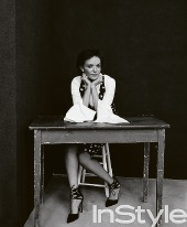 A still from Professor Anne Aly's photoshoot with InStyle.