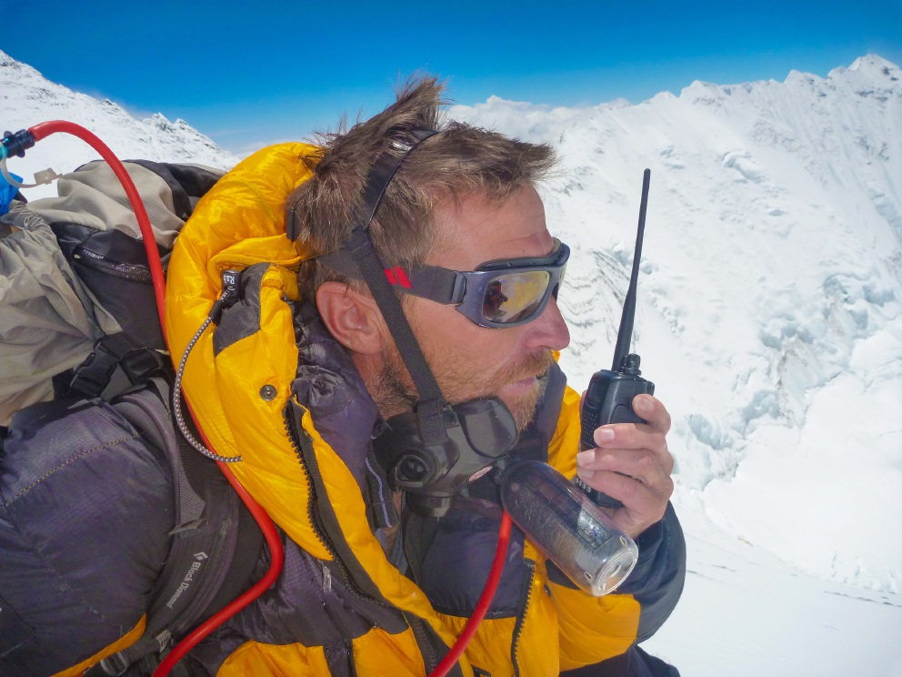 Kevin Farebrother on Mt Everest.