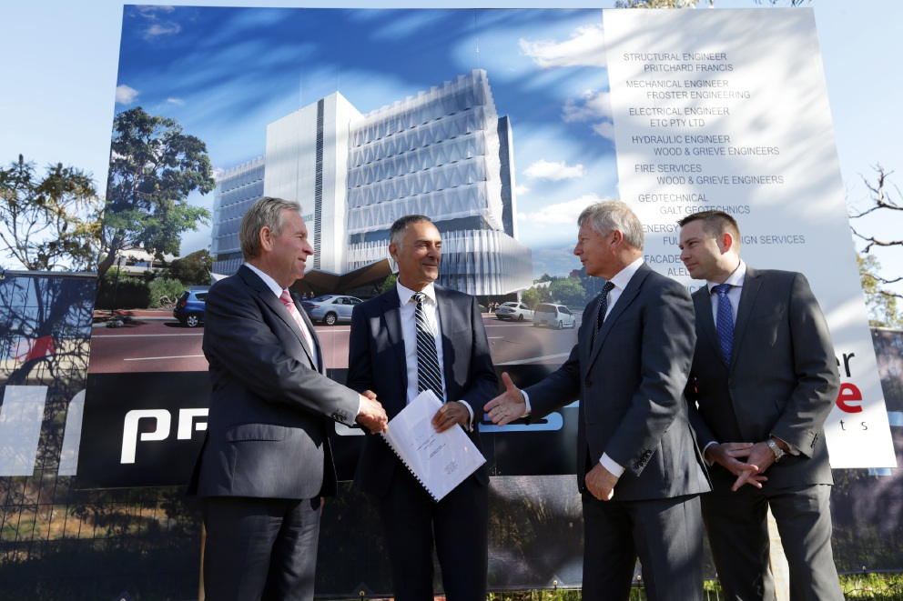 Premier Colin Barnett,David Schwartz (Director Prime West),Finance Minister Bill Marmion and Joondalup MLA Jan Norberger. Picture: Martin Kennealey