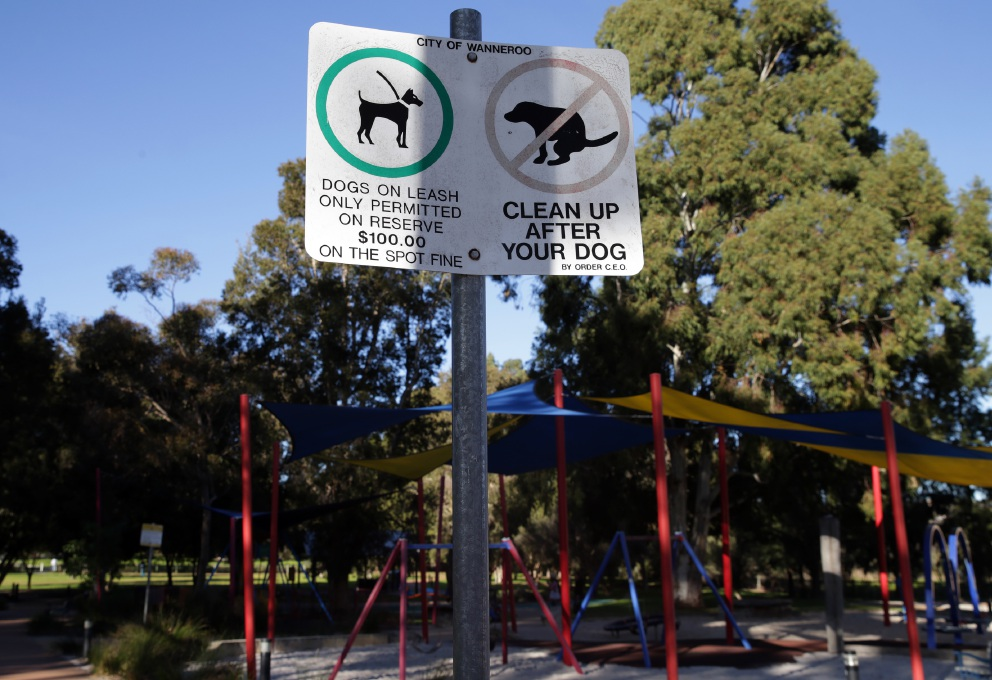 Signs to leash dogs for City of Wanneroo playgrounds
