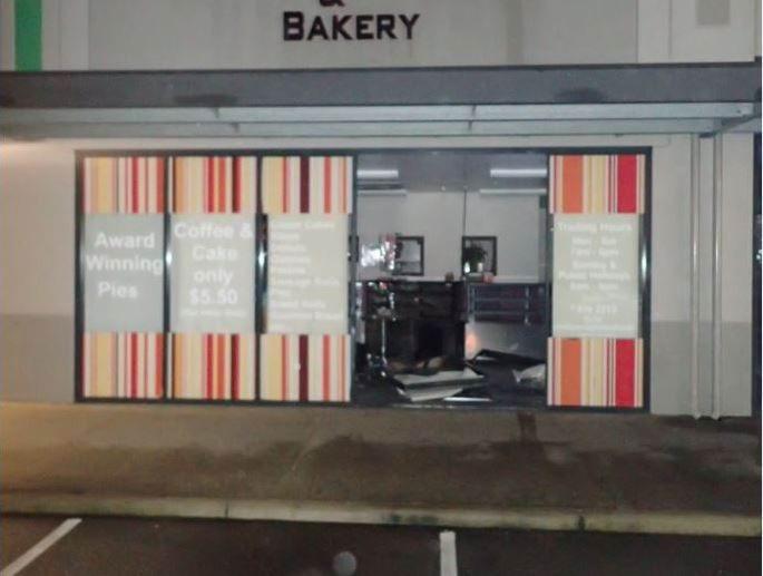 Ram raid at Bertram bakery this morning