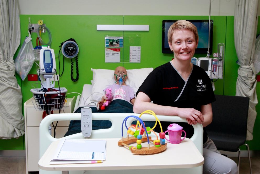 Senior clinical simulation technician Michelle Buchanan in Murdoch University's nursing simulation suite.
