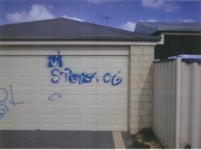 About 20 residents have been affected by a graffiti spree in Shoalwater
