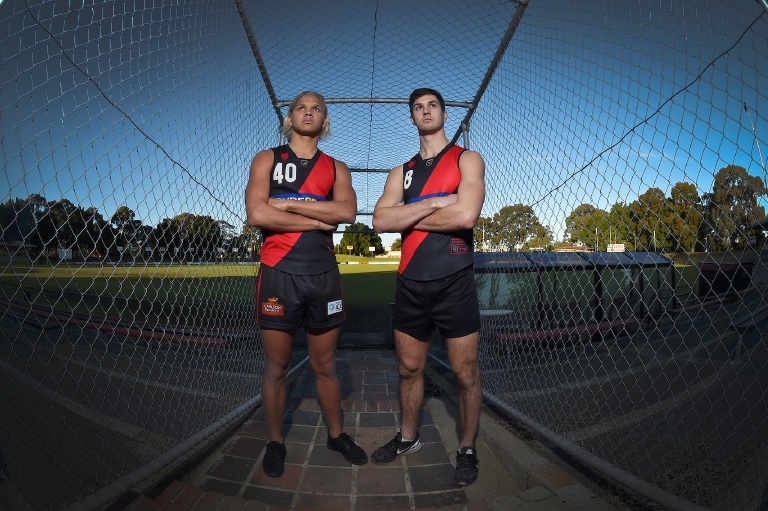 Gosnells teenager Quinton Narkle and former Kenwick Football Club player John Levien have come back from the AFL National 18s Championship, representing their state and playing in every game. Picture: Jon Hewson
