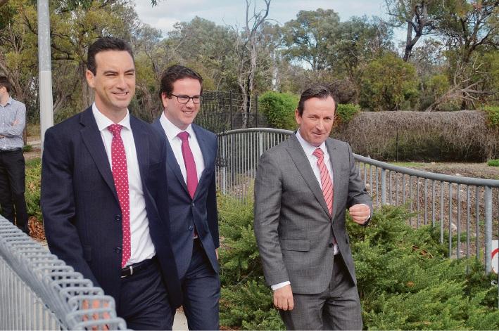 Candidate for Perth Tim Hammond, Candidate for Burt Matt Keogh and WA Labor leader Mark McGowan.